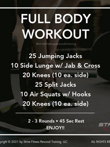 Workout for the Weekend - 4/23/21