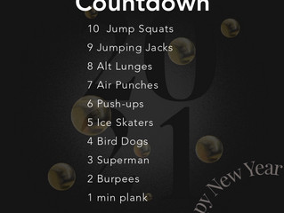 Workout of the Week - 1/1/21