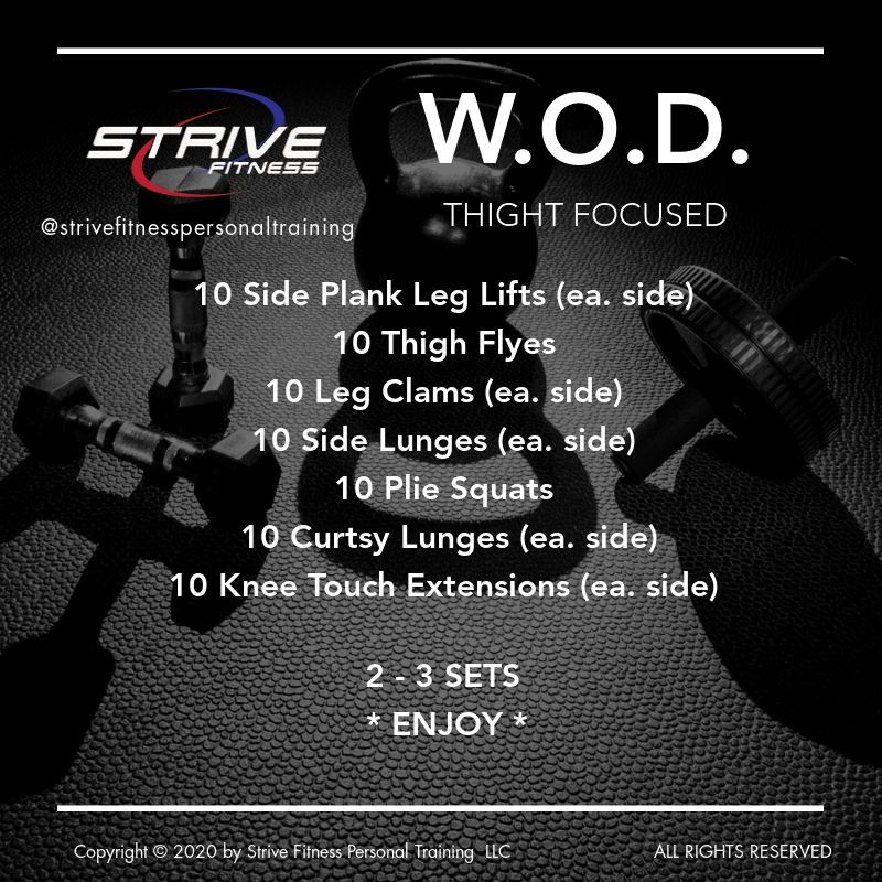Leg Focused - Workout of the Day Idea