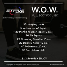 Workout for the Weekend - 2/5/21
