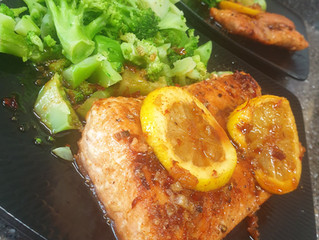 Pan Seared Honey Garlic Salmon
