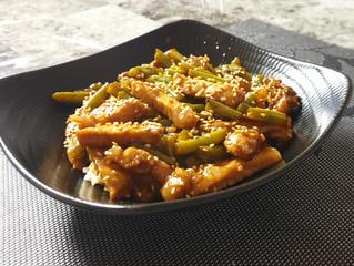 Sesame Pork Loin & Green Beans