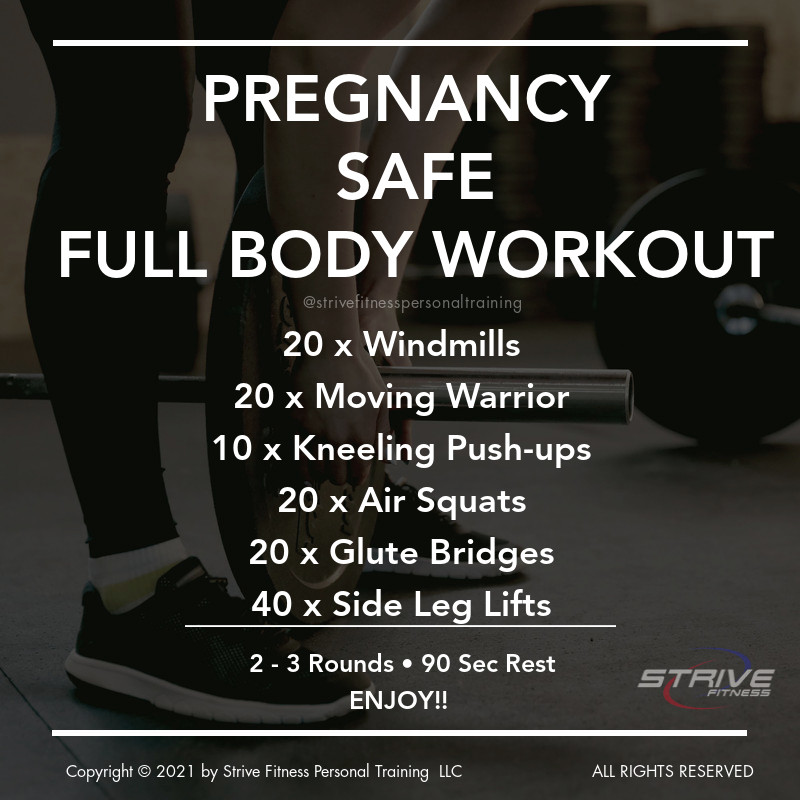 Pregnancy Friendly Full Body Workout