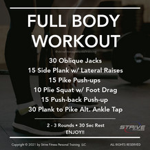 Workout for the Weekend - 3/5/21