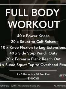 Workout for the Weekend - 3/12/21