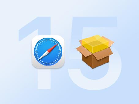 Apple lance Safari 15 bêta pour macOS Catalina
