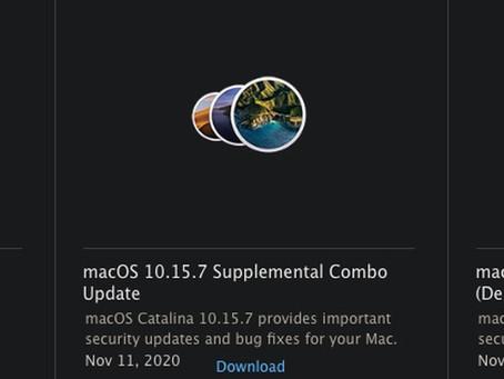 Apple arrête de proposer des packages de mise à jour autonomes dans macOS Big Sur