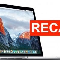 Certains Modèles de MacBook PrO 15 pouces avec la batteries défectueuses interdites de vol aux USA