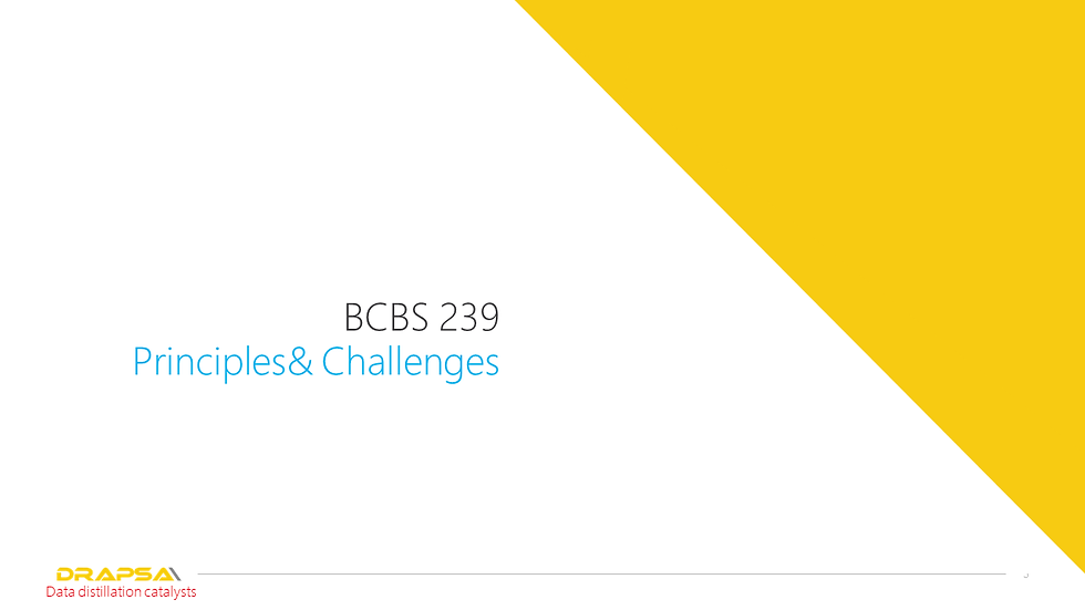 Drapsa BCBS 239 Consulting services