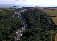 Aerial view of Solva