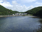 View over Solva Harbour to Solva Village