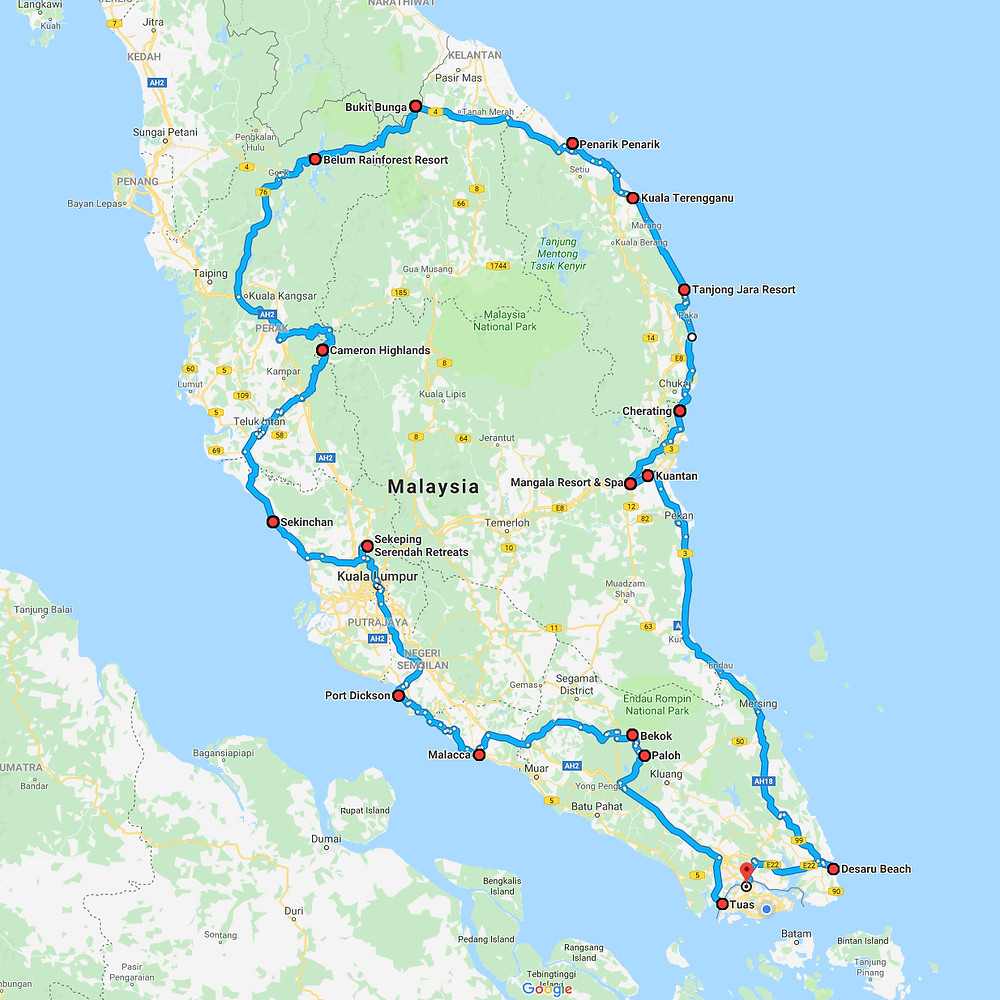 Malaysia road trip from Singapore