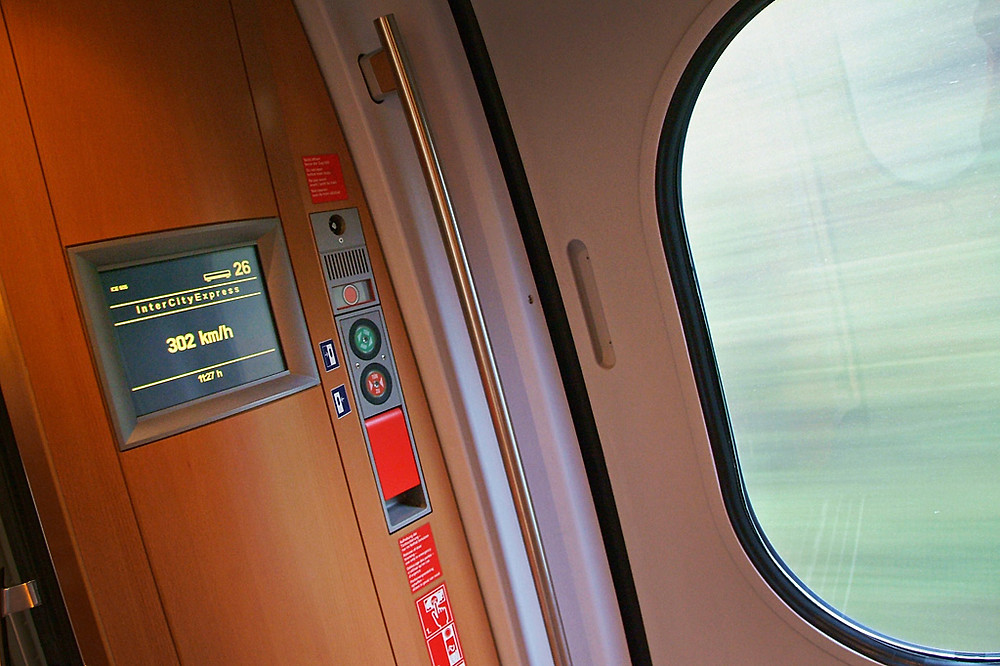 Essen to Frankfurt ICE Train