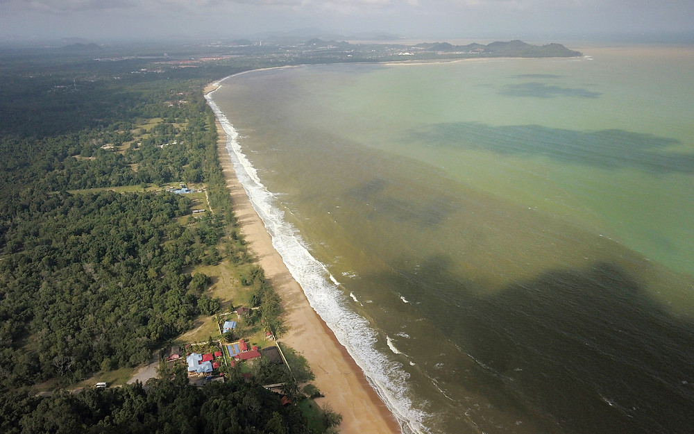 Cherating Beach aerial view