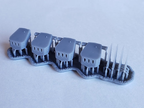 """1/500 Cleveland class 6""""/47 cal. Turrets"""