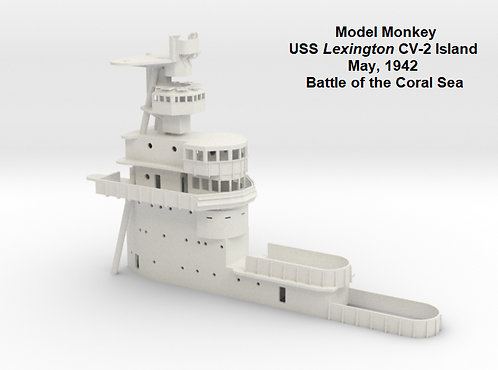 1/144 USS Lexington CV-2 Island, May 1942, Battle of the Coral Sea
