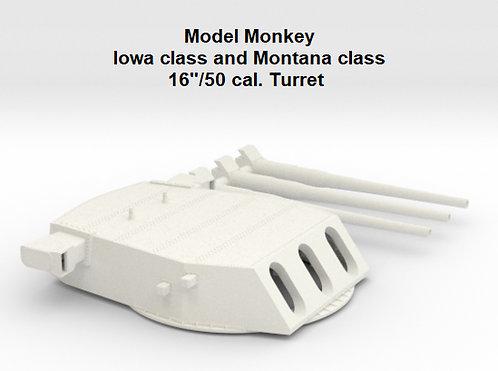 "Iowa class and Montana class 16""/50 Turret"