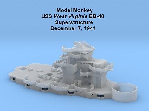 1/350 USS West Virginia BB-48 Superstructure, 7 Dec. 1941