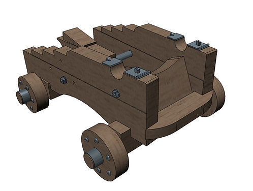 "1/96 Carriages for 18-pounder ""long-pattern"" Cannons"