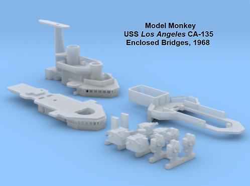 1/600 USS Los Angeles CA-135 Enclosed Bridges, 1968