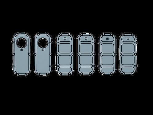 1/100 Ship's Doors, US Navy, Set A (Pilot House)