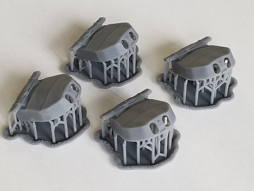 "1/350 HMS Hood 15"" Turrets with Barrels"