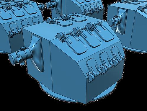 """1/525 Mk.37 Fire Control Directors, """"Square-back"""" for Mk.12/22 Radars"""