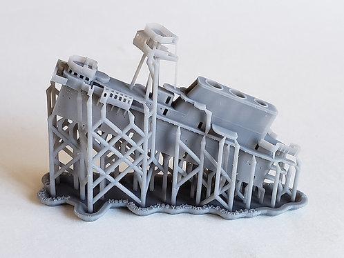 1/700 USS Yorktown CV-5 Island, 1942 (for Trumpeter)