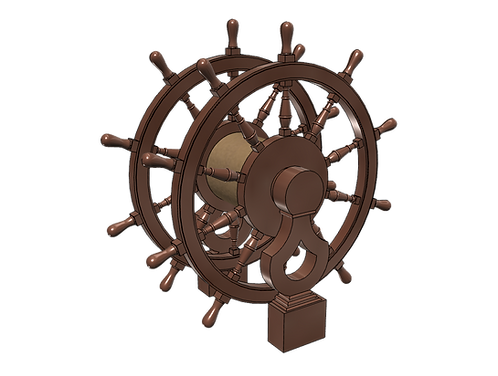 1/84 Ship's Wheel (Helm) for Frigates, Sloops, etc.