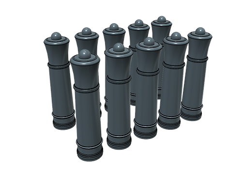 1/48 Cannon Bollards for Architectural Models