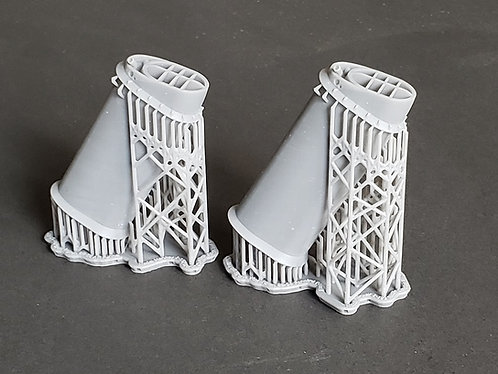 1/192 USS North Carolina BB-55 and USS Washington BB-56 Funnels