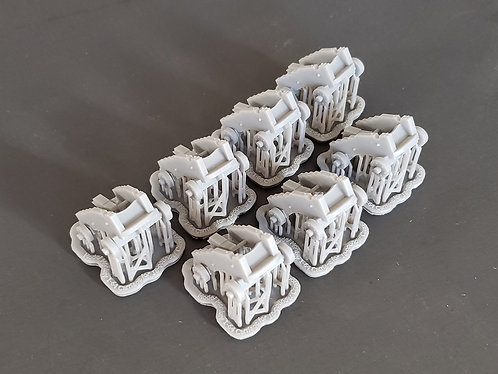 "1/64 Carriages for 18-pounder ""long-pattern"" Cannons"