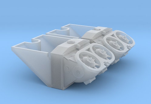 1/16 Tiger I Radiators, Cooling Fans and Ducts