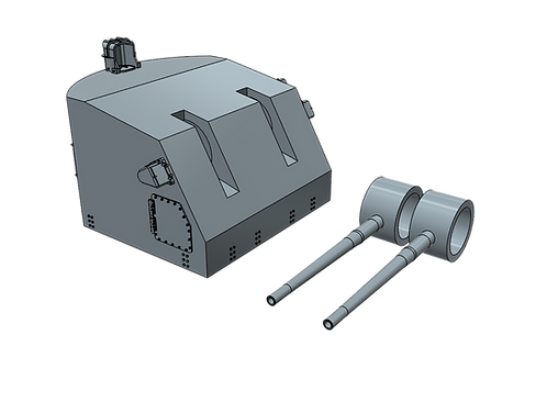 "1/72 5""/38 cal. Mk.32 Mount for Aircraft Carriers and Cruisers"
