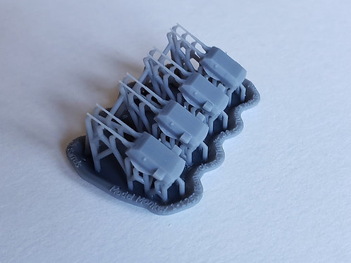 1/1250 Bismarck and Tirpitz Turrets with Blast Bags