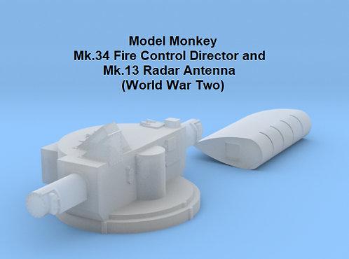 1/100 Mk.34 Fire Control Director with Mk.13 Radar Antenna, World War Two
