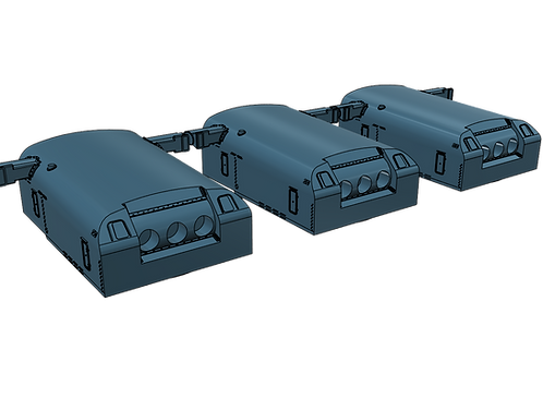 "1/192 Northampton class 8""/55 cal. Turrets with Trunnions"