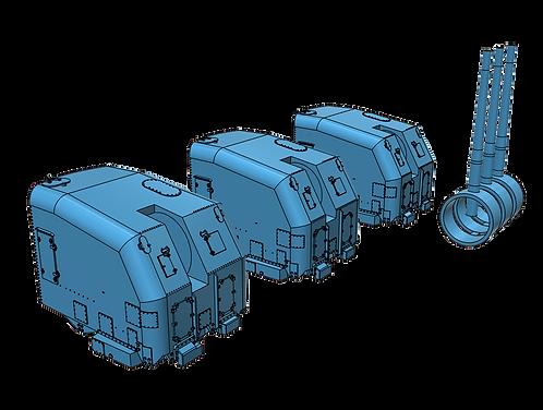 """1/200 Fletcher class, etc., 5""""/38 cal. Mk.30 """"Single Knuckle"""" Mounts, late"""