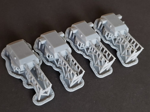 1/570 Bismarck and Tirpitz Turrets with Blast Bags