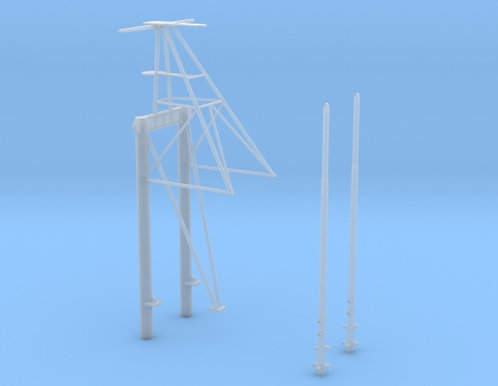 1/200 Quadruped Main Mast for USS Iowa and late USS Wisconsin