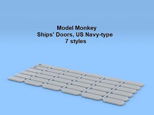 1/128 Ship's Doors, US Navy type (set of 36)