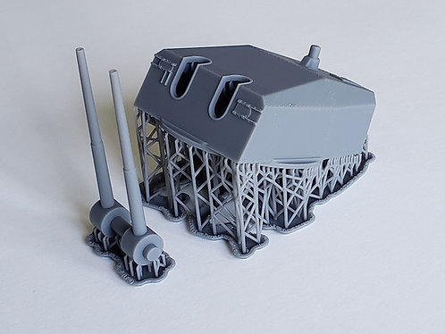 1/72 Kriegsmarine 15 cm Turret with separate Barrels
