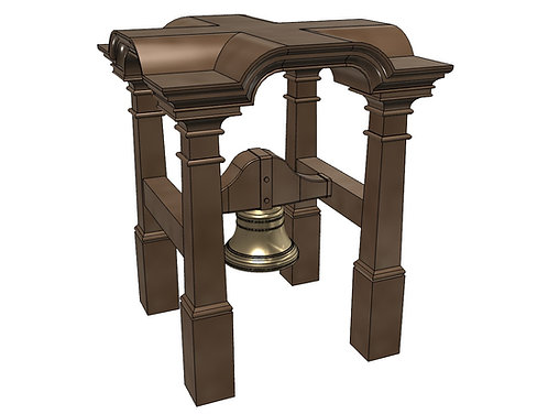 1/84 Belfry and Bell 18th-19th Century