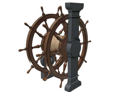 1/64 Ship's Wheel (Helm) for Ships of the Line