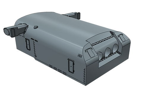 "1/96 USS Indianapolis CA-35 8""/55 cal. Turret with Trunnion"