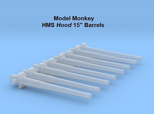 """1/700 HMS Hood 15"""" Barrels"""