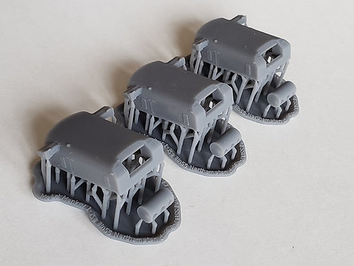 "1/350 Northampton class 8""/55 cal. Turrets with Trunnions"