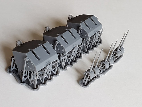 "1/144 Sumner and Gearing class Destroyer 5""/38 cal. Mk.38 Mounts"