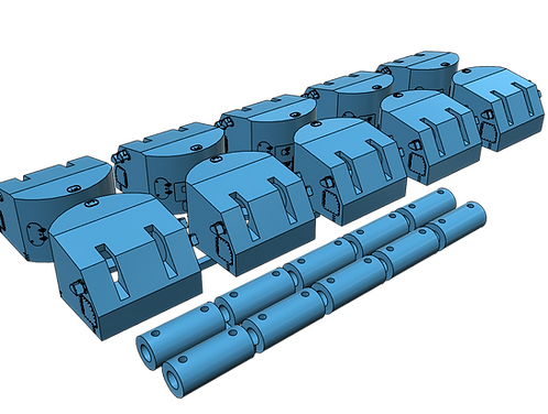 "1/400 5""/38 Mk.28 Mounts for Fast Battleships, Atlanta class, separate t"