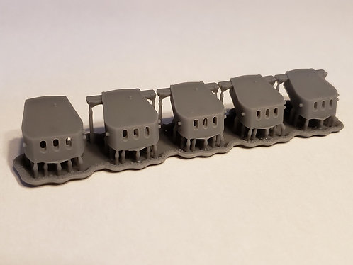 "1/350 Brooklyn class and St. Louis class 6""/47 Turrets"